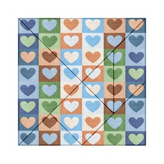 Hearts Plaid Acrylic Tangram Puzzle (6  x 6 )