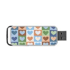 Hearts Plaid Portable USB Flash (Two Sides)
