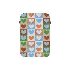 Hearts Plaid Apple iPad Mini Protective Soft Cases