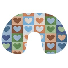 Hearts Plaid Travel Neck Pillows