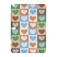 Hearts Plaid Samsung Galaxy Note 10.1 (P600) Hardshell Case