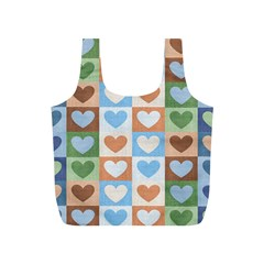 Hearts Plaid Full Print Recycle Bags (s)