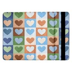 Hearts Plaid Samsung Galaxy Tab Pro 12 2  Flip Case
