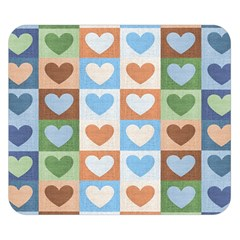 Hearts Plaid Double Sided Flano Blanket (Small)