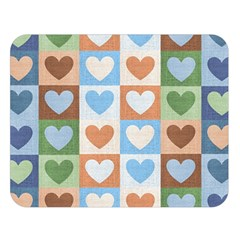 Hearts Plaid Double Sided Flano Blanket (Large)