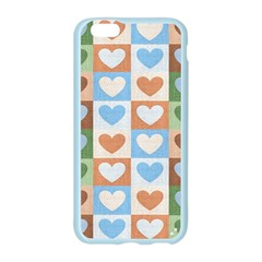 Hearts Plaid Apple Seamless iPhone 6/6S Case (Color)
