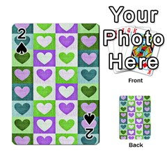 Hearts Plaid Purple Playing Cards 54 Designs