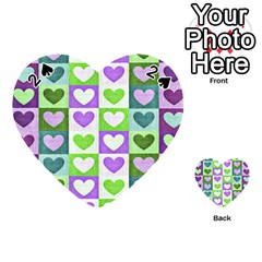 Hearts Plaid Purple Playing Cards 54 (Heart)