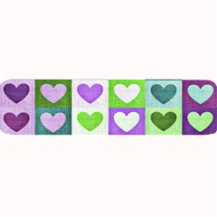 Hearts Plaid Purple Large Bar Mats
