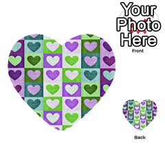 Hearts Plaid Purple Multi-purpose Cards (Heart)