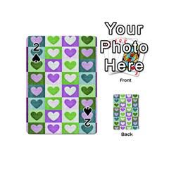 Hearts Plaid Purple Playing Cards 54 (Mini)