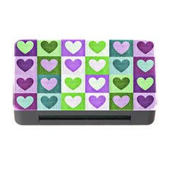 Hearts Plaid Purple Memory Card Reader With Cf