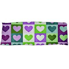 Hearts Plaid Purple Body Pillow Cases Dakimakura (Two Sides)