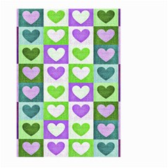 Hearts Plaid Purple Large Garden Flag (Two Sides)