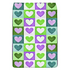 Hearts Plaid Purple Flap Covers (L)