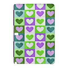 Hearts Plaid Purple Samsung Galaxy Tab Pro 10.1 Hardshell Case