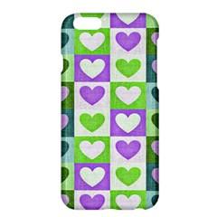 Hearts Plaid Purple Apple Iphone 6 Plus/6s Plus Hardshell Case
