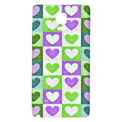 Hearts Plaid Purple Galaxy Note 4 Back Case