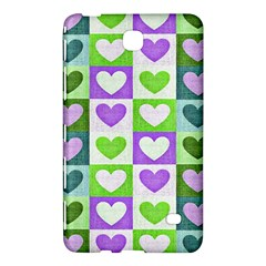 Hearts Plaid Purple Samsung Galaxy Tab 4 (7 ) Hardshell Case