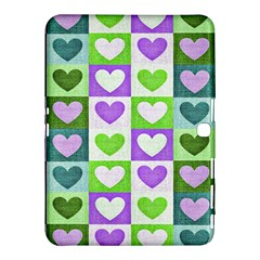 Hearts Plaid Purple Samsung Galaxy Tab 4 (10 1 ) Hardshell Case