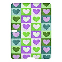 Hearts Plaid Purple Samsung Galaxy Tab S (10 5 ) Hardshell Case
