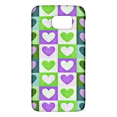 Hearts Plaid Purple Galaxy S6