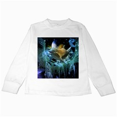 Funny Dolphin In The Universe Kids Long Sleeve T Shirts