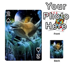Funny Dolphin In The Universe Playing Cards 54 Designs