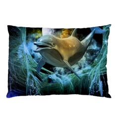 Funny Dolphin In The Universe Pillow Cases