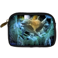 Funny Dolphin In The Universe Digital Camera Cases