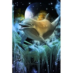 Funny Dolphin In The Universe 5.5  x 8.5  Notebooks