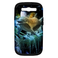 Funny Dolphin In The Universe Samsung Galaxy S Iii Hardshell Case (pc+silicone)