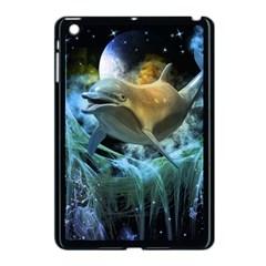 Funny Dolphin In The Universe Apple iPad Mini Case (Black)