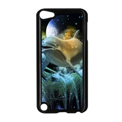 Funny Dolphin In The Universe Apple iPod Touch 5 Case (Black)