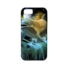 Funny Dolphin In The Universe Apple iPhone 5 Classic Hardshell Case (PC+Silicone)