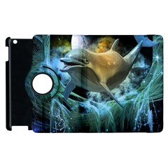 Funny Dolphin In The Universe Apple Ipad 3/4 Flip 360 Case