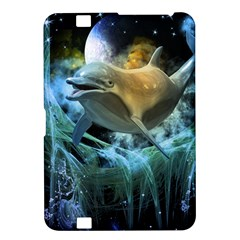 Funny Dolphin In The Universe Kindle Fire HD 8.9