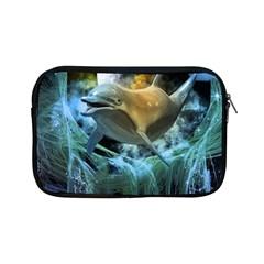 Funny Dolphin In The Universe Apple iPad Mini Zipper Cases