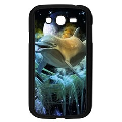 Funny Dolphin In The Universe Samsung Galaxy Grand Duos I9082 Case (black)