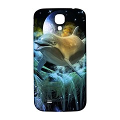Funny Dolphin In The Universe Samsung Galaxy S4 I9500/i9505  Hardshell Back Case
