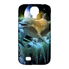 Funny Dolphin In The Universe Samsung Galaxy S4 Classic Hardshell Case (pc+silicone)