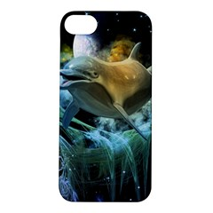 Funny Dolphin In The Universe Apple iPhone 5S Hardshell Case