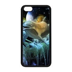Funny Dolphin In The Universe Apple Iphone 5c Seamless Case (black)
