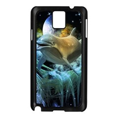 Funny Dolphin In The Universe Samsung Galaxy Note 3 N9005 Case (black)