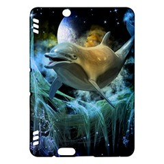 Funny Dolphin In The Universe Kindle Fire HDX Hardshell Case
