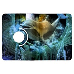 Funny Dolphin In The Universe Kindle Fire HDX Flip 360 Case