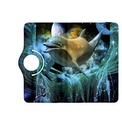 Funny Dolphin In The Universe Kindle Fire HDX 8.9  Flip 360 Case