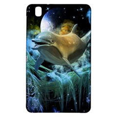 Funny Dolphin In The Universe Samsung Galaxy Tab Pro 8 4 Hardshell Case