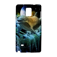 Funny Dolphin In The Universe Samsung Galaxy Note 4 Hardshell Case