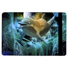 Funny Dolphin In The Universe Ipad Air 2 Flip